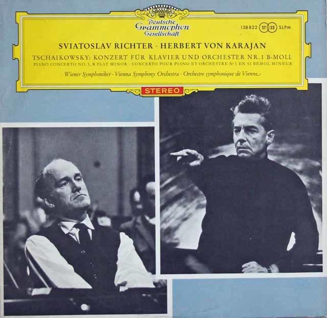 【独最初期盤/赤ステレオ】 リヒテル&カラヤンのチャイコフスキー/ピアノ協奏曲第1番 独DGG 3114 LP レコード