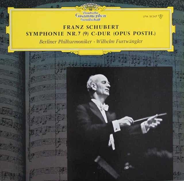 フルトヴェングラーのシューベルト/交響曲第9番「ザ・グレイト」 独DGG 3114 LP レコード