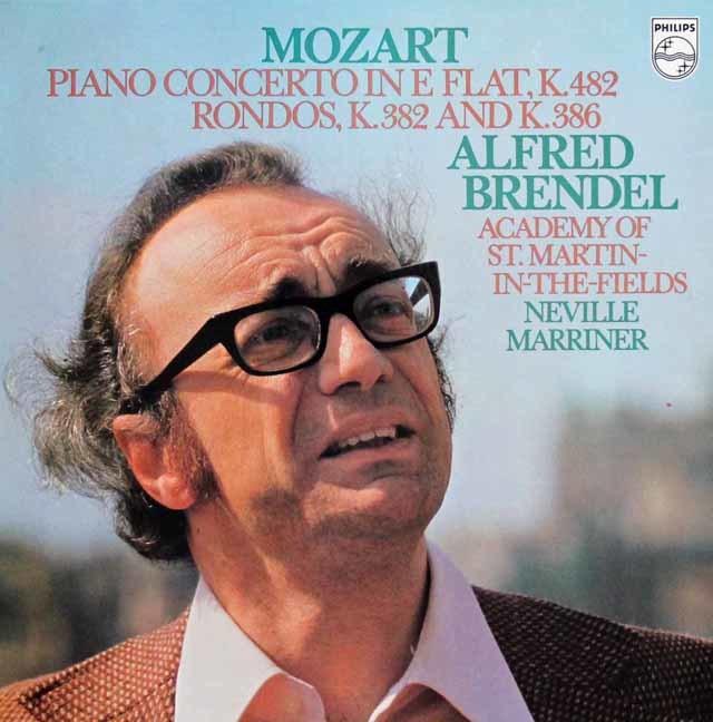 ブレンデル&マリナーのモーツァルト/ピアノ協奏曲第22番ほか 蘭PHILIPS 3114 LP レコード