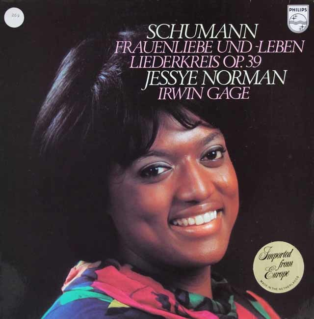 ノーマンのシューマン/歌曲集「女の愛と生涯」ほか 蘭PHILIPS 3114 LP レコード