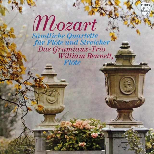 ベネット&グリュミオー・トリオのモーツァルト/フルート四重奏曲全集 蘭PHILIPS 3114 LP レコード