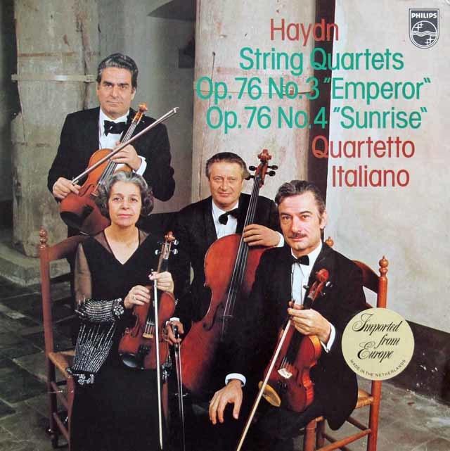 イタリア四重奏団のハイドン/弦楽四重奏曲第77&78番 蘭PHILIPS 3114 LP レコード
