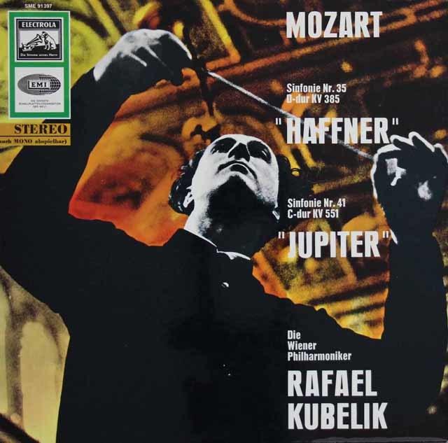 クーベリックのモーツァルト/交響曲「ハフナー」&「ジュピター」 独ELECTROLA 3114 LP レコード