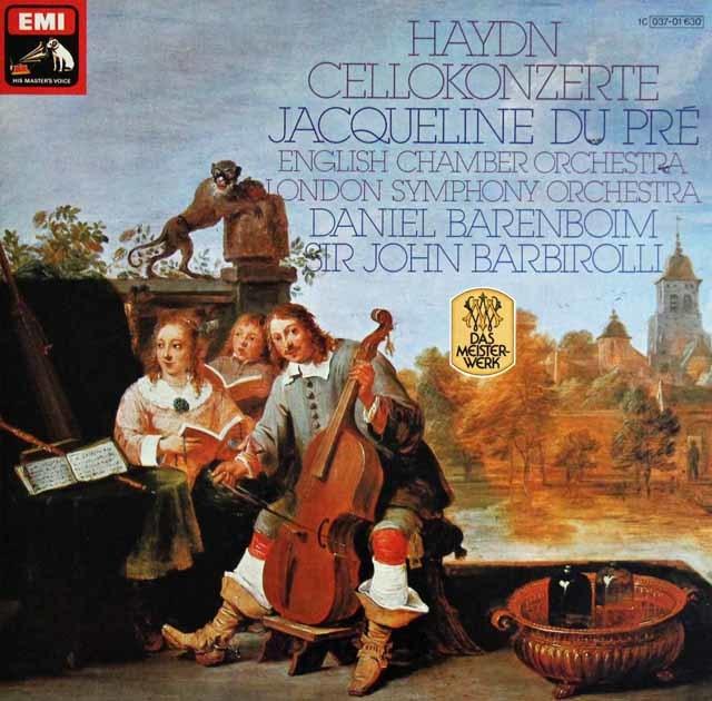 デュ・プレ&バルビローリらのハイドン/チェロ協奏曲第1&2番 独EMI 3114 LP レコード
