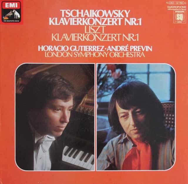 グティエレス&プレヴィンのチャイコフスキー&リスト/ピアノ協奏曲集 独EMI 3114 LP レコード