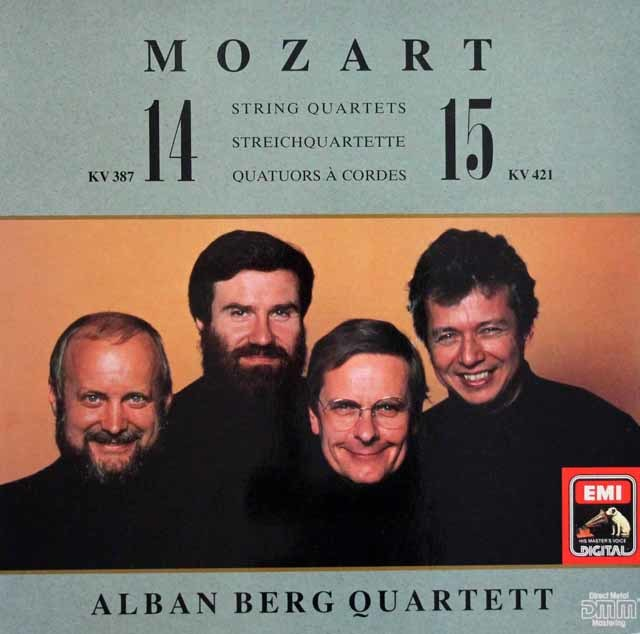 アルバン・ベルク四重奏団のモーツァルト/弦楽四重奏曲第14&15番 独EMI 3114 LP レコード