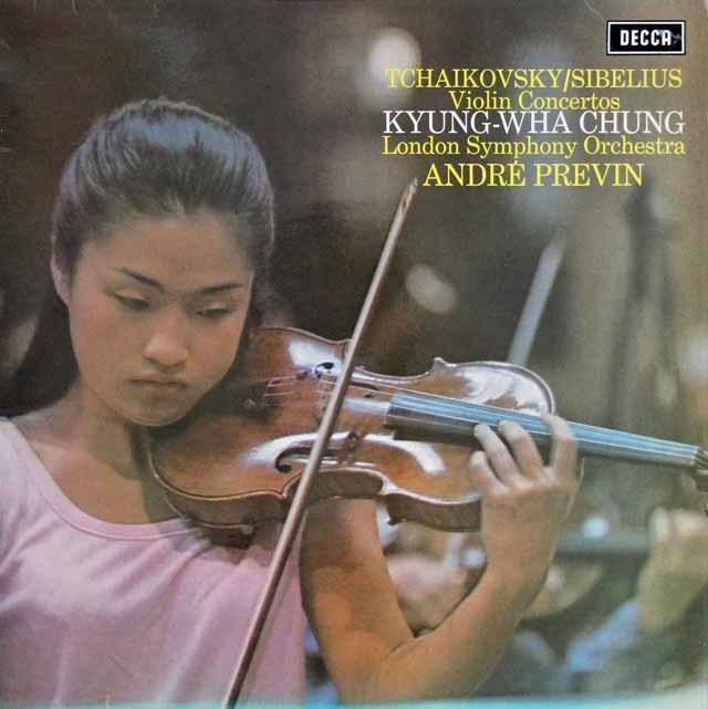 【オリジナル盤】 チョン&プレヴィンのシベリウス/ヴァイオリン協奏曲 英DECCA 3114 LP レコード