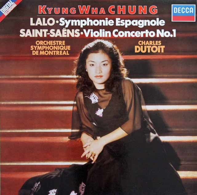 デュトワ&チョンのラロ/スペイン交響曲ほか 独DECCA 3114 LP レコード