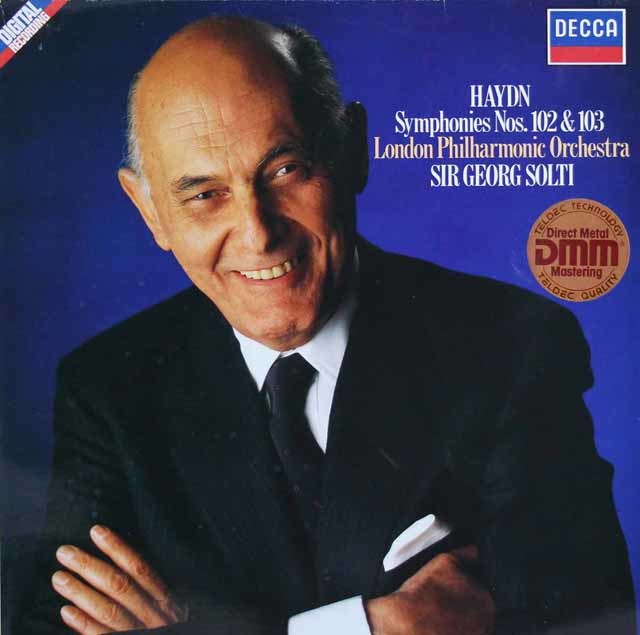 ショルティのハイドン/交響曲第102番&第103番「太鼓連打」 独DECCA 3114 LP レコード