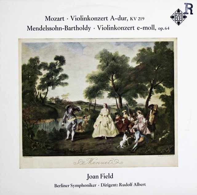 フィールドのモーツァルト&メンデルスゾーン/ヴァイオリン協奏曲集 独TELEFUNKEN 3114 LP レコード