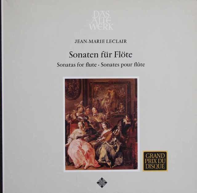 ラルデ、ドレフュス&ラミーのルクレール/フルート・ソナタ集 独TELEFUNKEN 3114 LP レコード