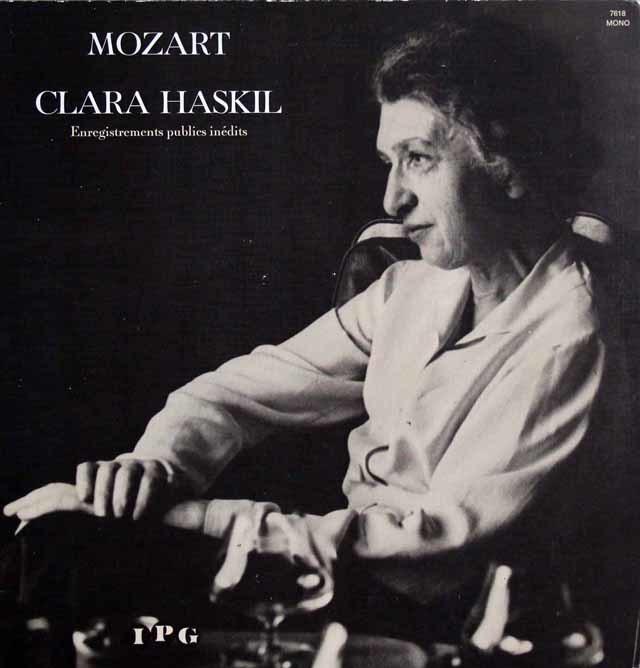 ハスキル&シューリヒトのモーツァルト/ピアノ協奏曲第9&19番 仏IPG 3114 LP レコード