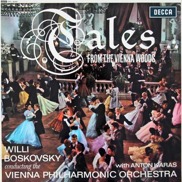 【オリジナル盤】ボスコフスキーのJ.シュトラウス2世/「ウィーンの森の物語」ほか 英DECCA 3115 LP レコード