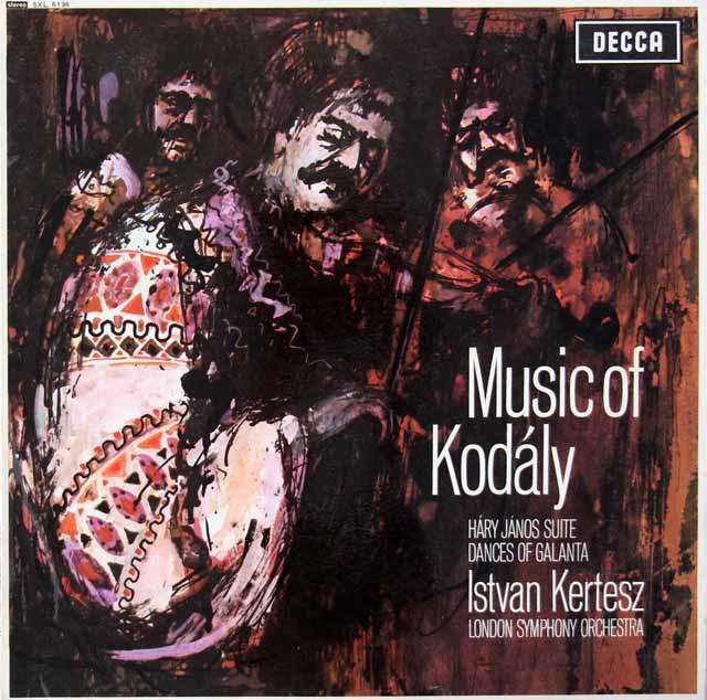 【オリジナル盤】ケルテスのコダーイ/「ハーリ・ヤノーシュ」&ガランタ舞曲集  英DECCA 3115 LP レコード