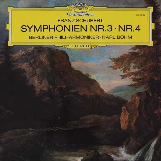 ベームのシューベルト/交響曲第3&4番「悲劇的」 独DGG 3115 LP レコード
