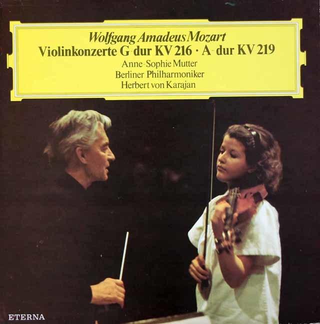 ムター&カラヤンのモーツァルト/ヴァイオリン協奏曲第3&5番 独ETERNA 3115 LP レコード