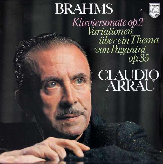 アラウブラームス/ピアノソナタ第2番ほか  蘭PHILIPS  3115 LP レコード