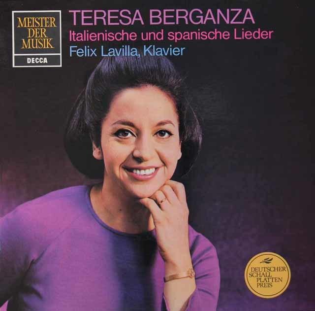 ベルガンサのイタリア&スペイン歌曲集 独DECCA 3115 LP レコード