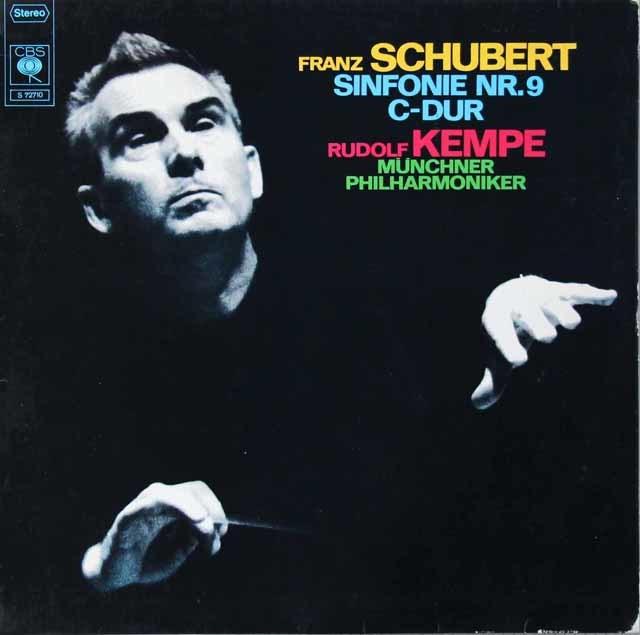 ケンペのシューベルト/交響曲第9番「ザ・グレイト」   独CBS 3115 LP レコード