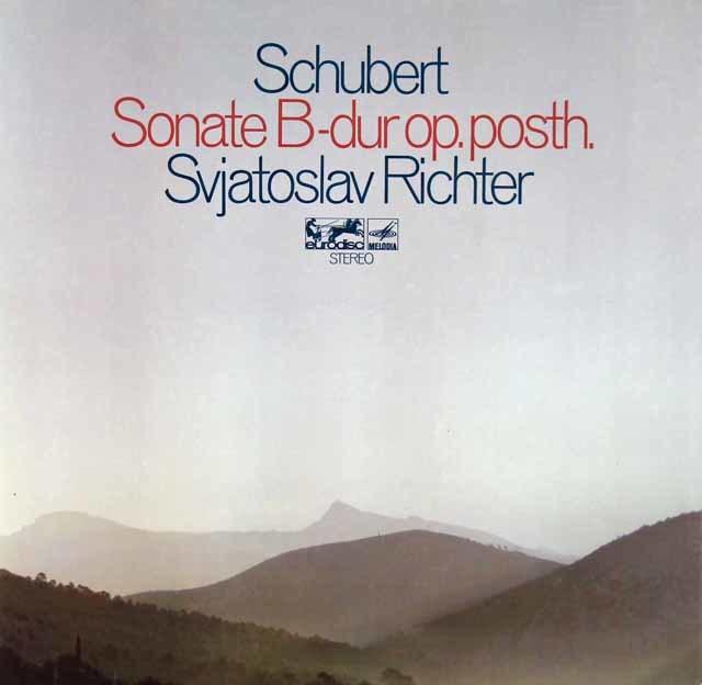 リヒテルのシューベルト/ピアノソナタ第21番   独eurodisc 3115 LP レコード
