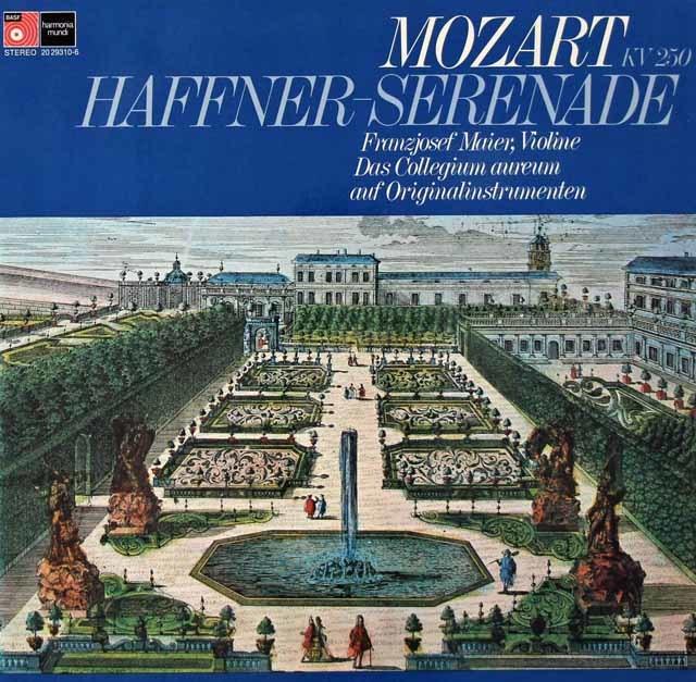コレギウム・アウレウムのモーツァルト/「ハフナー」セレナード 独BASF/HM 3115 LP レコード