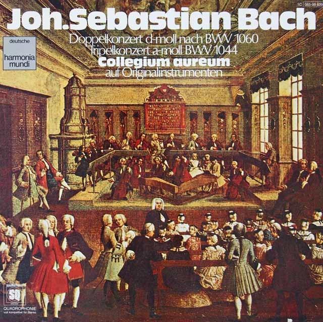 コレギウム・アウレウムのバッハ/オーボエとヴァイオリンのための二重協奏曲ほか  独HM 3115 LP レコード