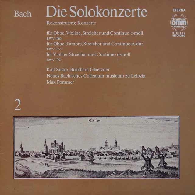 ズスケ&グレツナーのバッハ/協奏曲集 vol.2 独ETERNA 3116 LP レコード