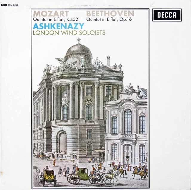 アシュケナージ&ロンドン・ウィンド・ソロイスツのモーツァルト&ベートーヴェン/ピアノ五重奏曲集 英DECCA 3116 LP レコード