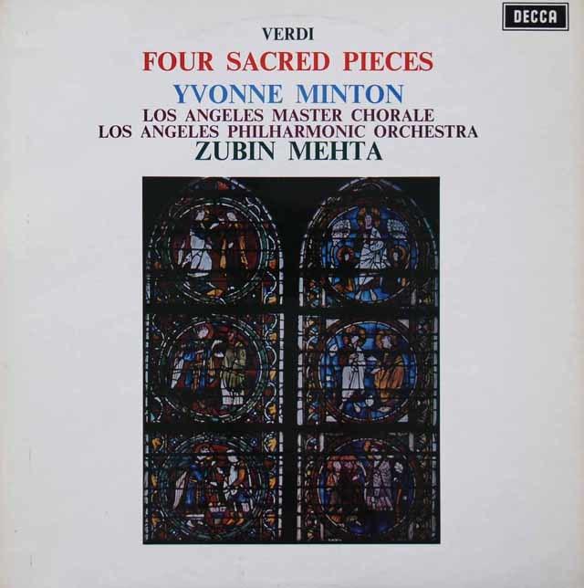 【オリジナル盤】 メータ&ミントンのヴェルディ/聖歌四篇 英DECCA 3116 LP レコード
