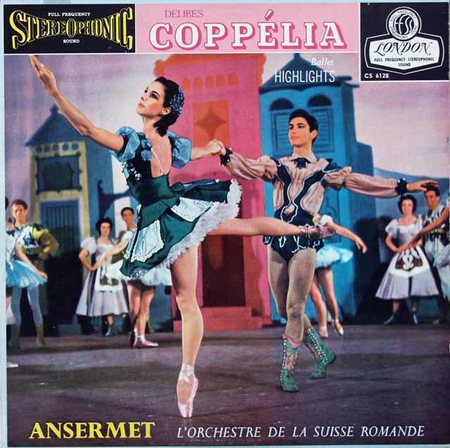 アンセルメのドリーヴ/「コッペリア」抜粋 英LONDON 3116 LP レコード