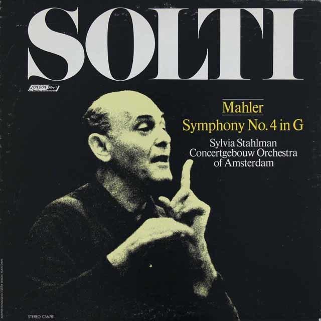 ショルティのマーラー/交響曲第4番 英LONDON 3116 LP レコード