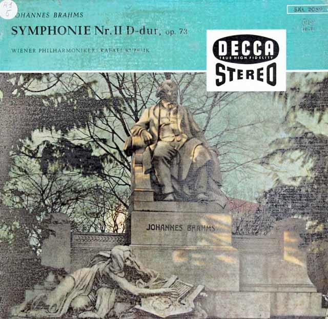 【独最初期盤】クーベリックのブラームス/交響曲第2番 独DECCA 3116 LP レコード