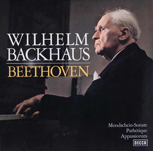 バックハウスのベートーヴェン/ピアノソナタ「月光」「悲愴」「熱情」 独DECCA 3116 LP レコード