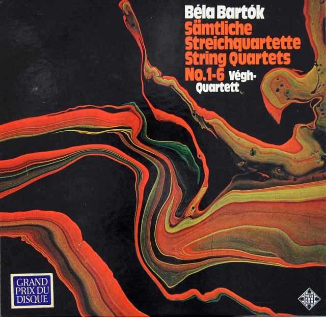 ヴェーグ四重奏団のバルトーク/弦楽四重奏曲(全曲)  独TELEFUNKEN 3116 LP レコード