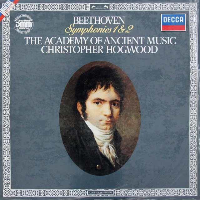 ホグウッドのベートーヴェン/交響曲第1&2番 独DECCA 3116 LP レコード