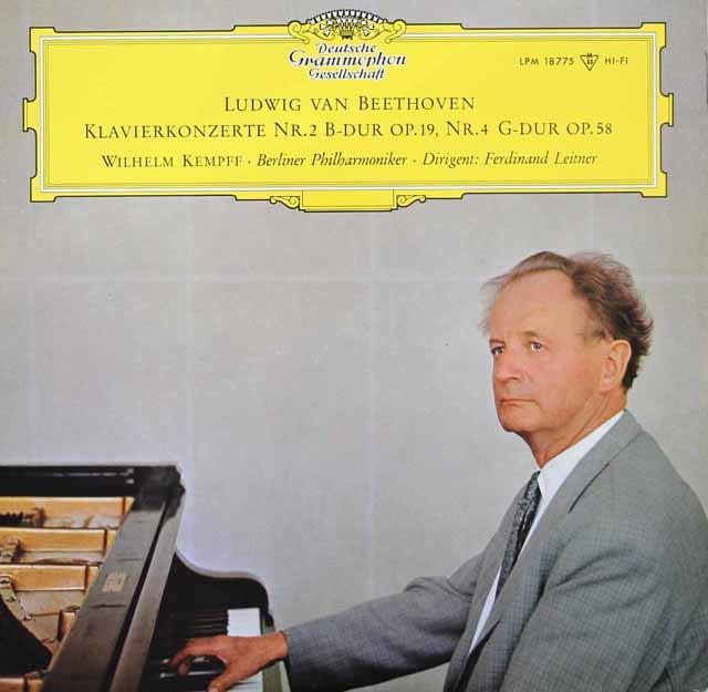 ケンプ&ライトナーのベートーヴェン/ピアノ協奏曲第2&4番 独DGG 3116 LP レコード