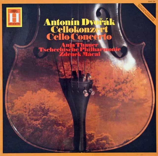 タウアー&マーカルのドヴォルザーク/チェロ協奏曲 独HELIODOR 3116 LP レコード