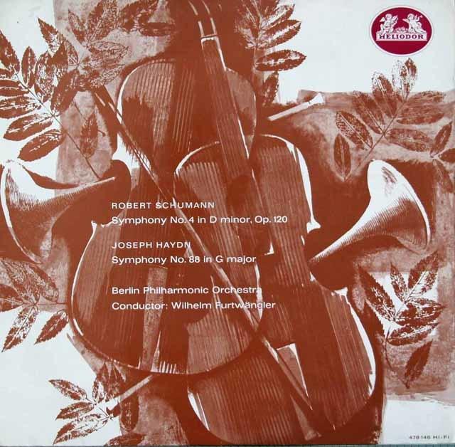 フルトヴェングラーのシューマン/交響曲第4番ほか 独HELIODOR 3116 LP レコード