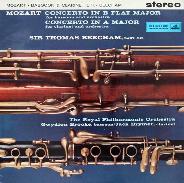 【オリジナル盤】 ブルック、ブライマー&ビーチャムのモーツァルト/協奏曲集 英EMI 3116 LP レコード
