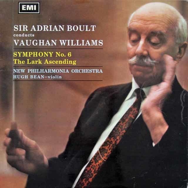 【オリジナル盤】 ボールトのヴォーン・ウィリアムズ/交響曲第6番ほか 英EMI 3116 LP レコード