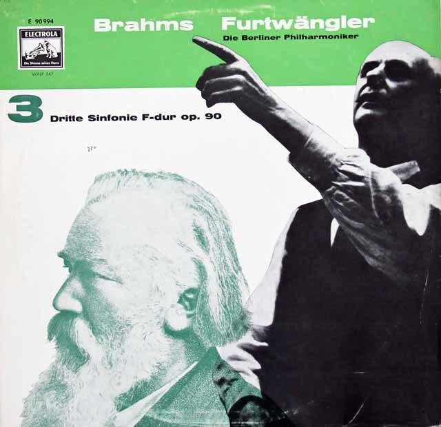 フルトヴェングラーのブラームス/交響曲第3番 独EMI 3116 LP レコード