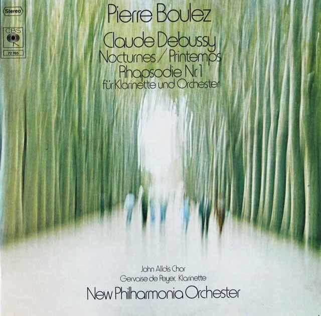 ブーレーズのドビュッシー/「夜想曲」ほか 独CBS 3116 LP レコード