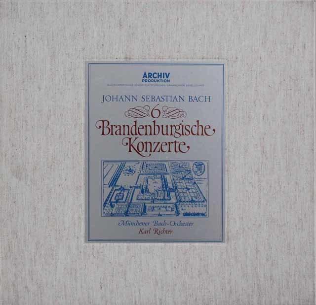 リヒターのバッハ/ブランデンブルク協奏曲全曲 独ARCHIV 3116 LP レコード