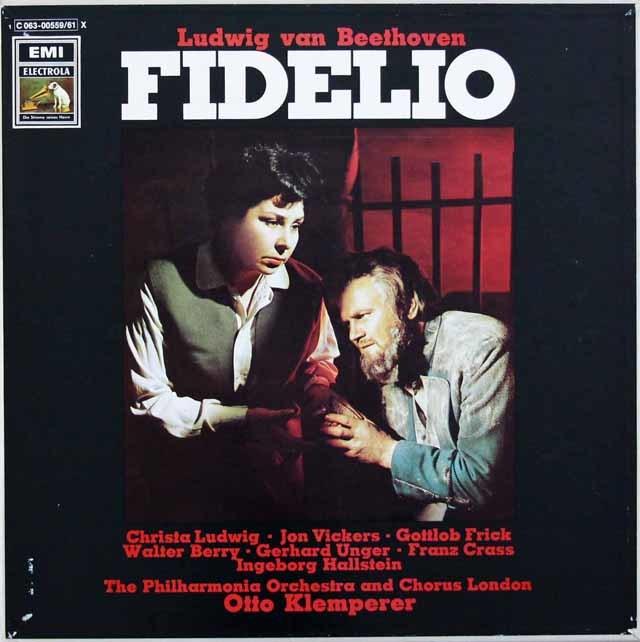 クレンペラーのベートーヴェン/「フィデリオ」全曲 独EMI 3116 LP レコード