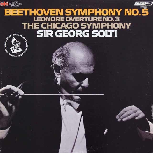 ショルティのベートーヴェン/交響曲第5番「運命」ほか 英LONDON 3117 LP レコード
