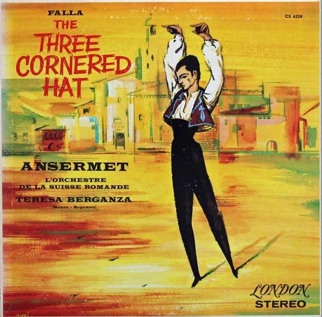 アンセルメ&ベルガンサのファリャ/「三角帽子」ほか 英LONDON 3117 LP レコード