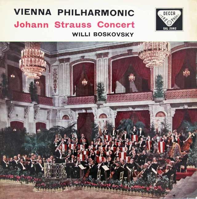 【オリジナル盤】ボスコフスキーのJ.シュトラウスコンサート 英DECCA 3117 LP レコード