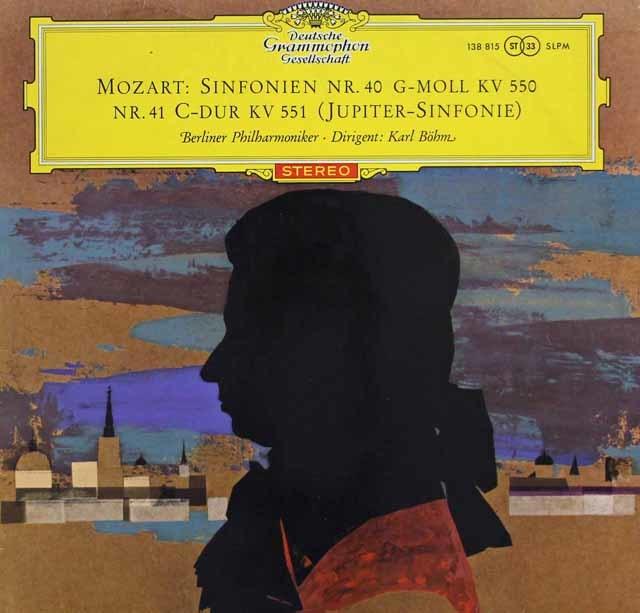【赤ステレオ、オリジナル盤】 ベームのモーツァルト/交響曲第40番、41番「ジュピター」  独DGG 3117 LP レコード