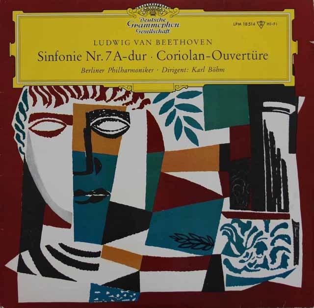 ベームのベートーヴェン/交響曲第7番ほか 独DGG 3117 LP レコード