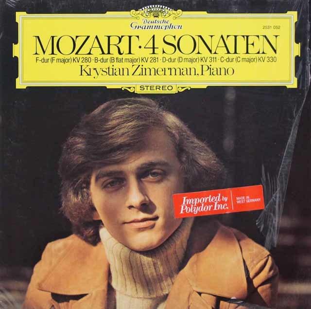 ツィマーマンのモーツァルト/ピアノ・ソナタ集    独DGG 3117 LP レコード